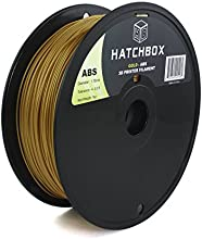 HATCHBOX 1.75mm Gold ABS 3D Printer Filament - 1kg Spool (2.2 lbs.) - Dimensional Accuracy +/- 0.05mm