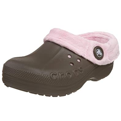 Crocs Polar Blitzen Clog (Toddler/Little Kid),Chocolate/Bubblegum,12-13 M US Little Kid