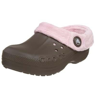 Crocs Polar Blitzen Clog (Toddler/Little Kid),Chocolate/Bubblegum,10-11 M US Toddler
