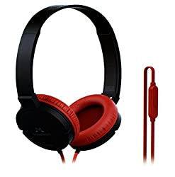 SoundMagic P10S Black Red Headphone with Mic