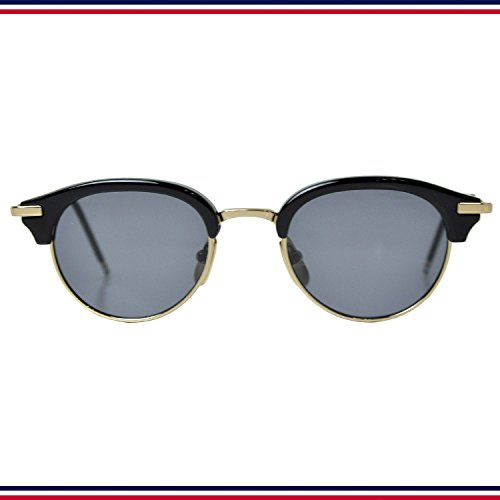 THOM BROWNE. NEW YORK トムブラウン ニューヨーク TB 706 A T Black Shiny 12K Gold 47size Dark Grey