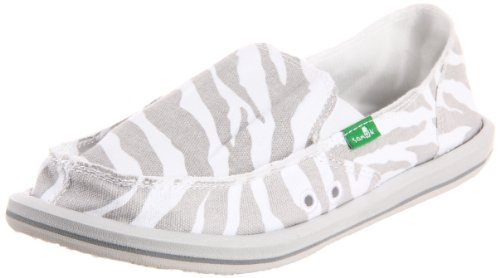 Sanuk Women's I'm Game Slip-On,Zebra Grey,8 M US