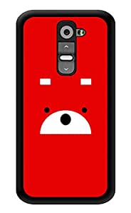 "Humor Gang Bear In Red Printed Designer Mobile Back Cover For ""LG G2"" (3D, Glossy, Premium Quality Snap On Case)"