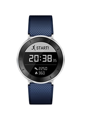 Huawei Fit Smart Fitness Watch (Moonlight Silver With Blue Sport Band, Large) with Continuous Heart Rate Monitor (US Warranty)