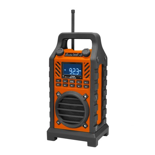 Pyle Pwpbt250Or Rugged And Portable Bluetooth Speaker With Fm Radio, Usb/Sd Readers And Built-In Rechargeable Battery (Orange)