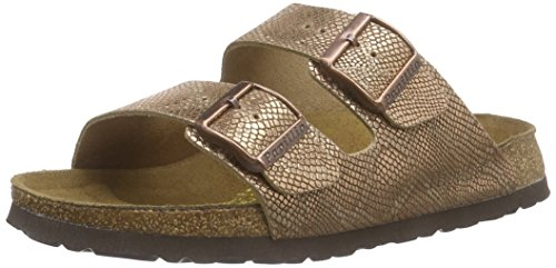 BirkenstockArizona Leder - Ciabatte Donna , Marrone (Braun (Royal Python Brown)), 37