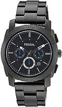 Comprar Fossil FS4552 - Reloj analógico de cuarzo para hombre con correa de acero inoxidable, color negro