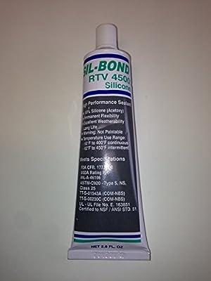 Food Grade FDA RTV CLEAR adhesive 3 oz BBQ pit smoker NSF silicon High temp 450 F