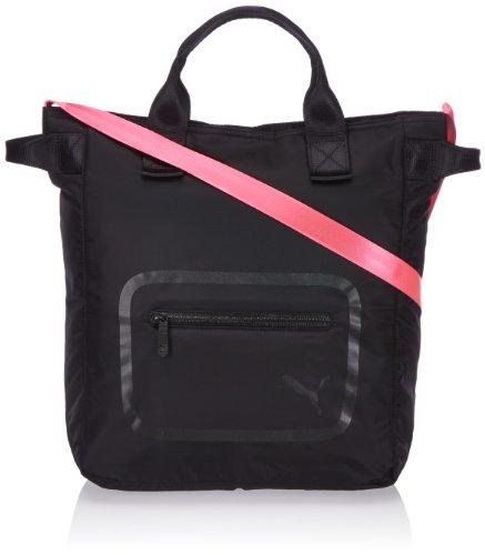 Puma Dazzle - Borsa tracolla donna, nero (Black - Black-Black-fluo Pink), 32 x  37 x 13 cm