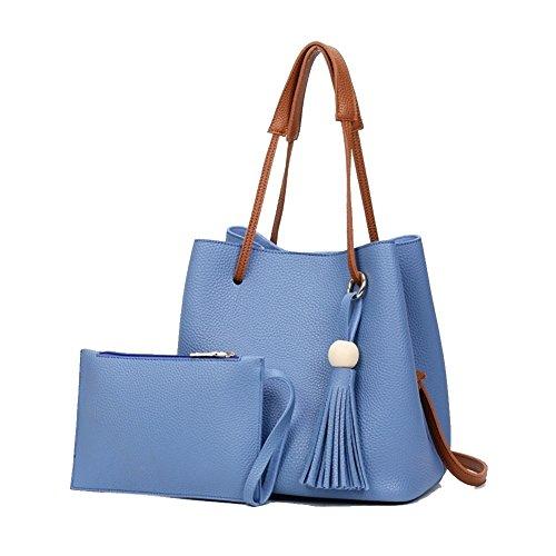 Beautiful Leather Bucket Crossbody Women Shoulder Bag,Small Purses Handbag(Blue) (Jelly Handbags Furla compare prices)