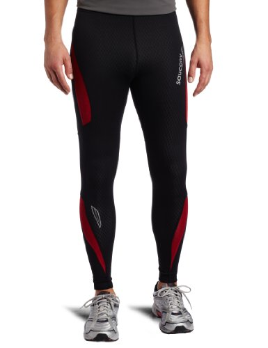 Saucony Saucony AmpPro2 Training Tight (Black/Race Car Red, Large)