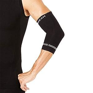 Zensah Compression Tennis Elbow Sleeve for Elbow Tendonitis, Tennis Elbow, Golfer's Elbow, Small,Black