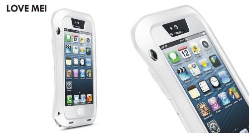 【LOVE MEI】 防水防塵耐衝撃 パワーケース IPhone5/5S 並行輸入品 (白)