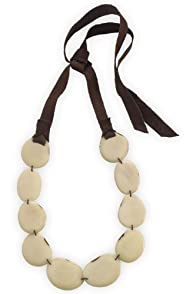 Faire Collection Fair Trade Tagua Strand Necklace (Ivory)