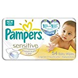 Pampers Sensitive Maximum Care Baby Wipes 54 per pack