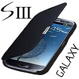 Flip Tasche Samsung Galaxy S3 Neo Gt - i9301i i9301 Schutz H�lle Case Cover Schwarz + Displayschutzfolie Folie Gratis!!!!!