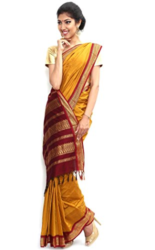 Sudarsahan Silks South Karantaka Span Cotton Silk Saree [SBTI2_Yellow]
