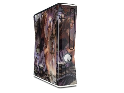 Fireflies Decal Style Skin for XBOX 360 Slim Vertical (OEM Packaging) wood grain oak 01 holiday bundle decal style skin set fits xbox one console kinect and 2 controllers xbox system sold separately