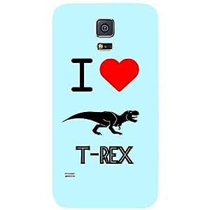 Skin4gadgets I love T-Rex Colour - Light Blue Phone Skin for SAMSUNG GALAXY S5