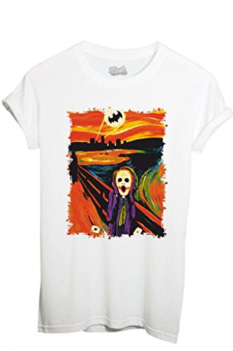 T-Shirt JOKER URLO BATMAN - FILM by MUSH Dress Your Style - Uomo-S-BIANCA