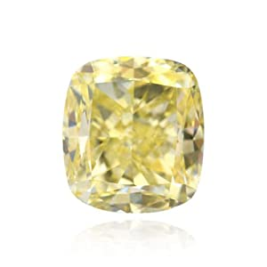 Yellow Loose Diamond Cushion Cut Natural Fancy Color GIA Certificate 1.49Ct IF