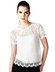 Limited Collection Crochet Floral T-Shirt