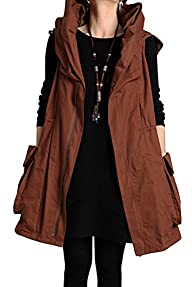 Mordenmiss Women's Sleeveless Coat Sp…