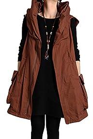 Mordenmiss Women's Sleeveless Coat Sp…