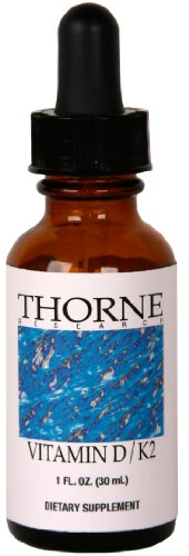 Thorne Research - Vitamin D/K2 Liquid - 1Oz [Health And Beauty]