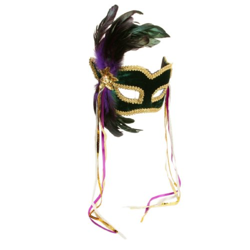 Mardi Gras Feather Mask Adult