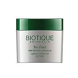 Biotique Bio Fruit Whitening Lip Balm Lightens & Evens-Out Lip Tones, 12G