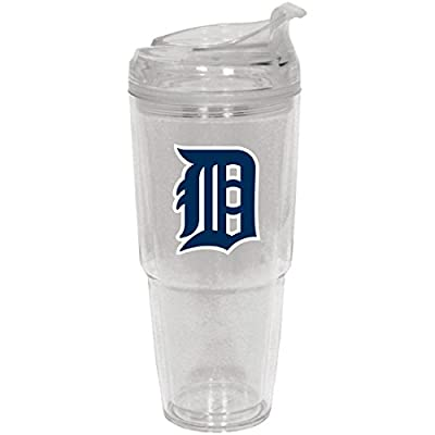 MLB Detroit Tigers Insulated Tumbler with Patch, 22 oz., White