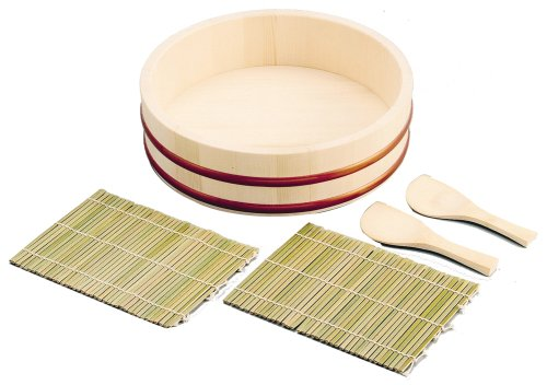 Sushi Oke Hangiri Mat Rice Paddle Making Set #4726