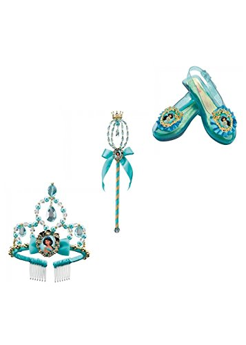 [Princess Jasmine Wand Shoes and Tiara Costume Set] (Princess Jasmine Costumes Tiara)