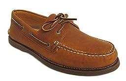 Sperry Top-Sider Men\'s Gold A/O 2-Eye Tan/Gum 2 Boat Shoe 10.5 M (D)