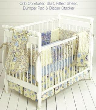 Kwik Sew Crib Comforter Skirt Fitted Sheet Bumper Pad & Diaper Stacker Pattern By The Each