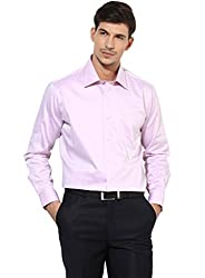 GIVO Gold Class Onion Pink Solid Formal Shirt