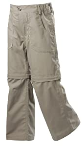 Gelert Girls Hill Zip Off Trouser - Fossil, Size 7/8