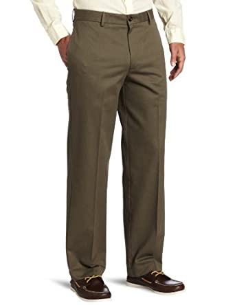IZOD Men's Flat Front Madison Pant, Tarmac, 29x30