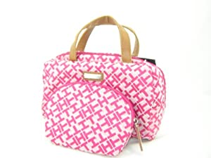 Tommy Hilfiger 2PC Cosmetic Case Make Up Bag Set Pink Multi
