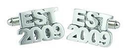 Established 2009 7th Wedding Anniversary Cufflinks - EST 2009 - Handmade & Unique 7 Year Gift