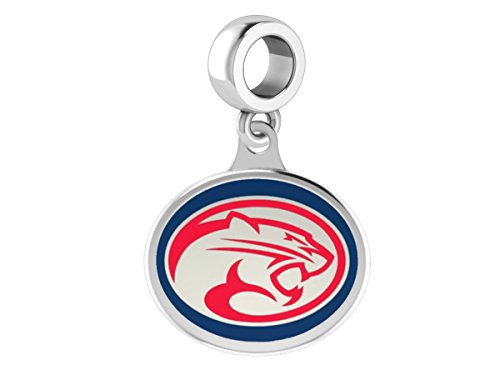 Houston Cougars Sterling Silver Enamel Drop Charm Fits All European Style Bracelets