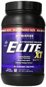 Dymatize Elite XT Dietary Supplement, Blueberry Muffin, 2 Pound