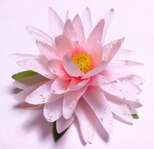 造花フローティングロータス(蓮) ライトピンク