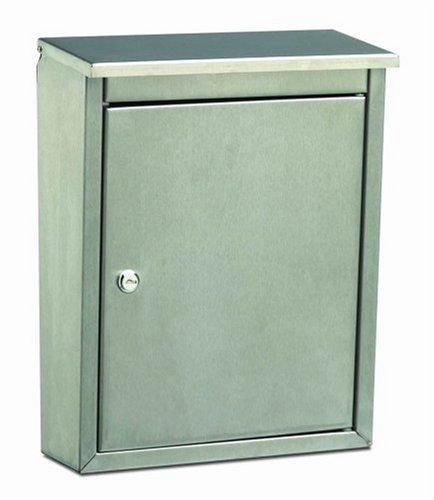 Architectural Mailboxes Metropolis Wall Mailbox, Stainless Steel Satin Finish Architectural Mailboxes