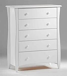 Bedroom Chest In White W Five Drawers Kitchen Dining