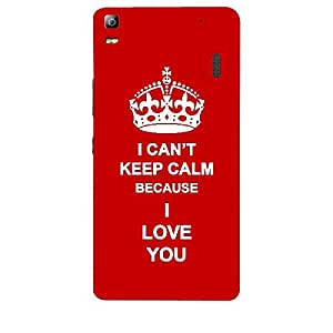 Skin4gadgets I CAN'T KEEP CALM BECAUSE I LOVE YOU - Colour -Red Phone Skin for LENOVO A7000