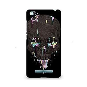 Mobicture Skull Abstract Premium Designer Mobile Back Case Cover For Xiaomi Redmi Mi4i