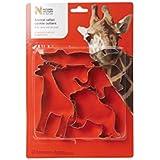Dexam Natural History Museum Tinplate Animal Safari Cookie Cutters, Set of 4