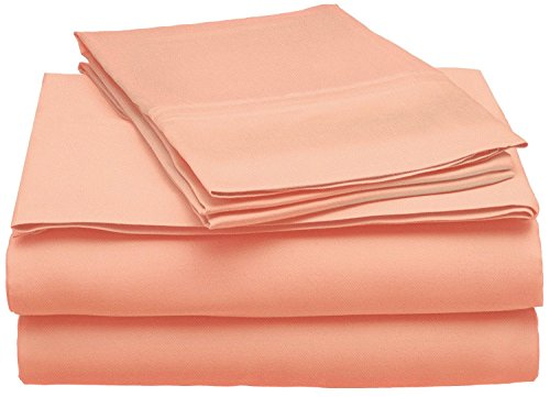 Superior 300 Thread Count Full Sheet Set, 100% Modal from Beech, Solid, Coral (Full Sheet Inc Modal compare prices)